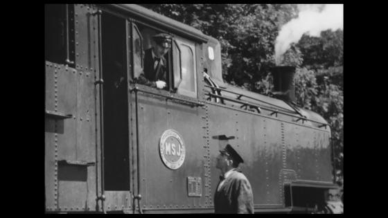 MSJ Tågkonduktör - lokförare omkring 1951