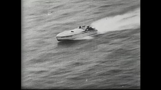 Vintage speed boat