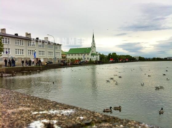 Reykjavikurtjörn Iceland
