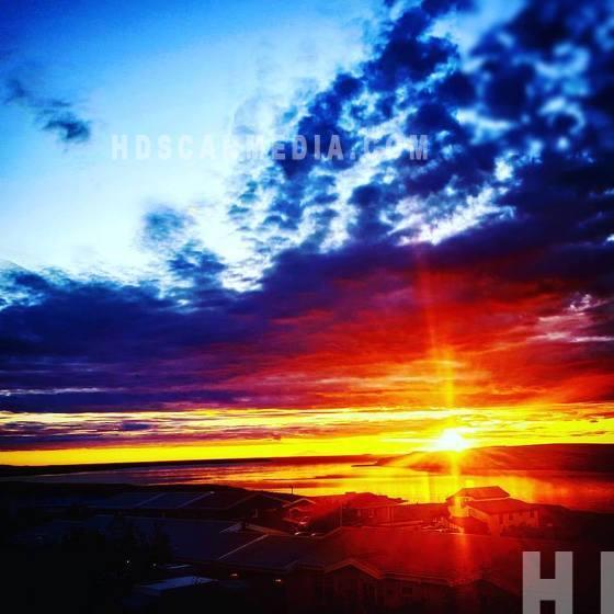 Sunset in Reykjavík
