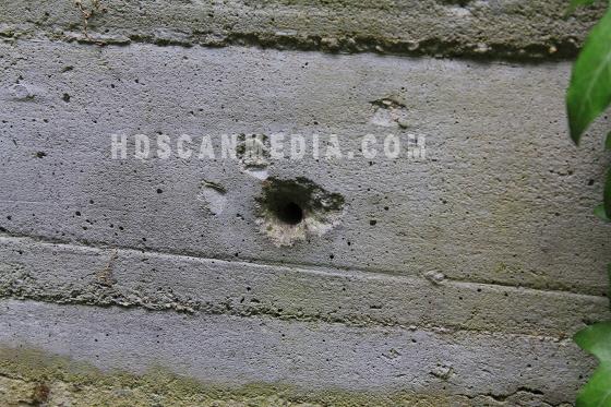 execution range with a blood ditch -  Dachau