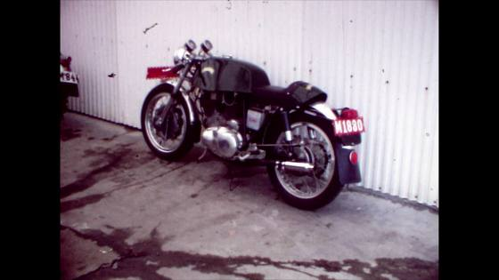 Äldre Motorcykel