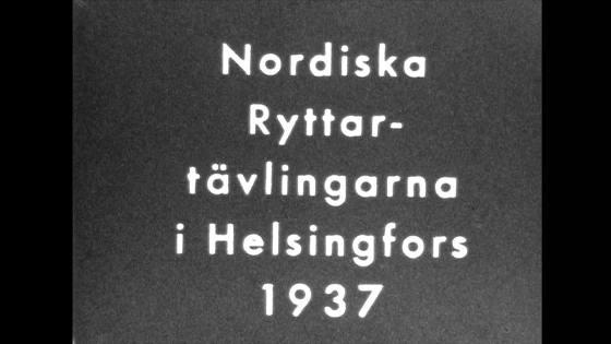 Ryttar tävling 1937