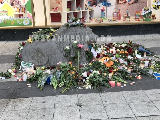 Truck terror attack aftermath in central Stockholm